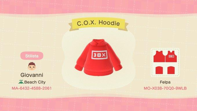 C.O.X. Hoodie - Animal Crossing: New Horizons Custom Design