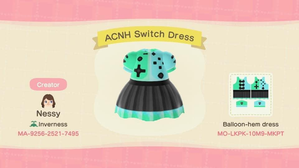 ACNH Switch Dress - Animal Crossing: New Horizons Custom Design