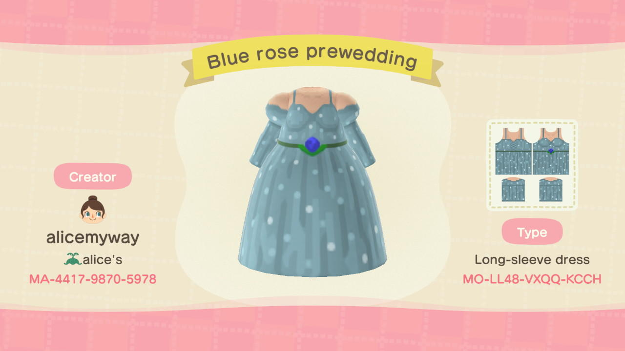 Blue Rose Prewedding - Animal Crossing: New Horizons Custom Design