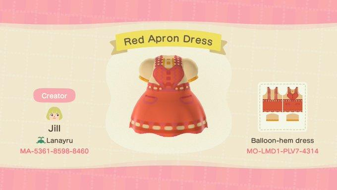 Red Apron Dress - Animal Crossing: New Horizons Custom Design