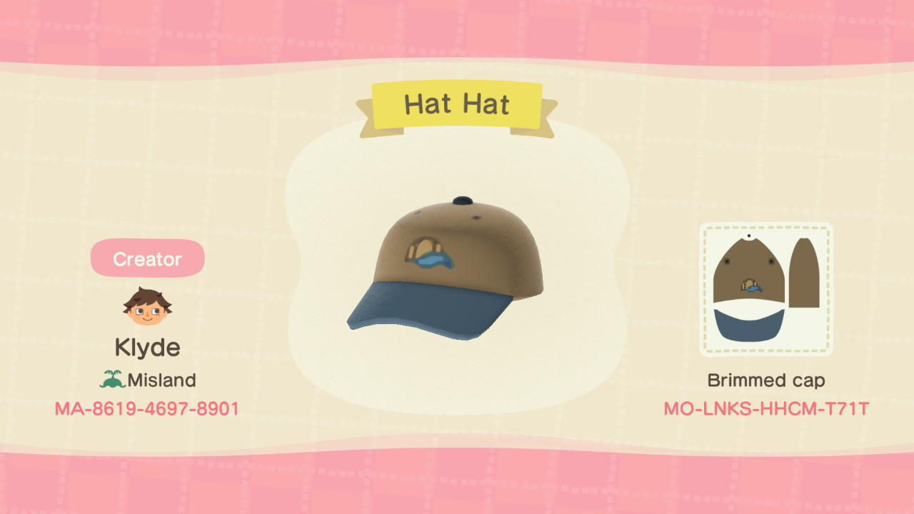 Dad Brand Hat Hat - Animal Crossing: New Horizons Custom Design