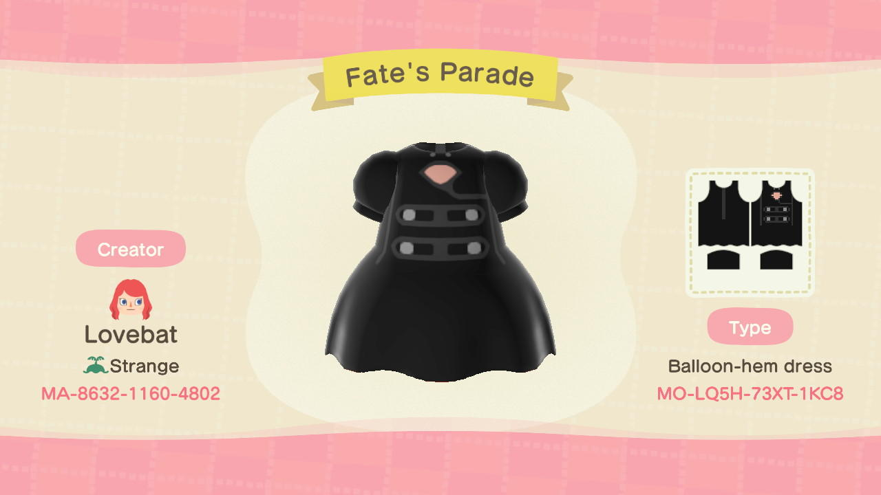 Fate's Parade - Animal Crossing: New Horizons Custom Design