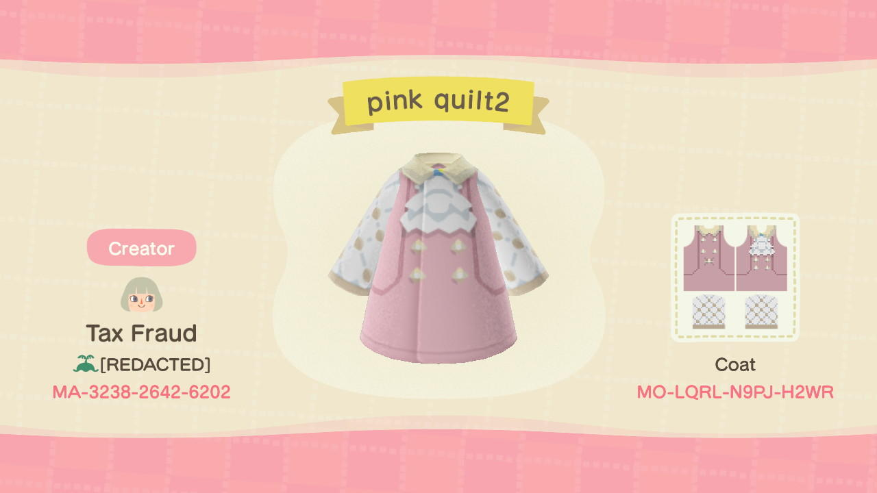 pink quilt2 - Animal Crossing: New Horizons Custom Design