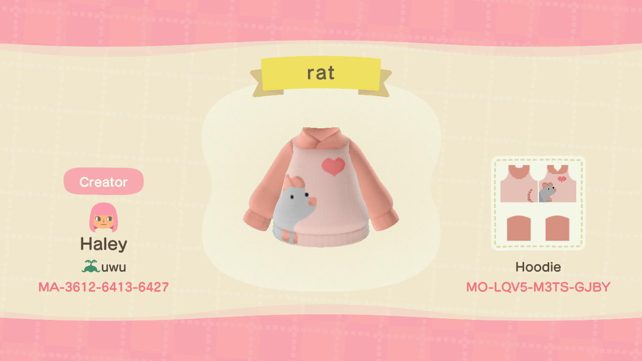 Rat - Animal Crossing: New Horizons Custom Design