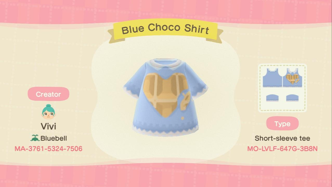 Blue Choco Shirt - Animal Crossing: New Horizons Custom Design