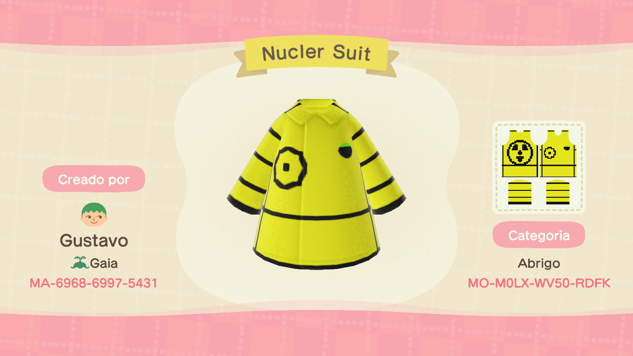 Nuclear Suit - Animal Crossing: New Horizons Custom Design
