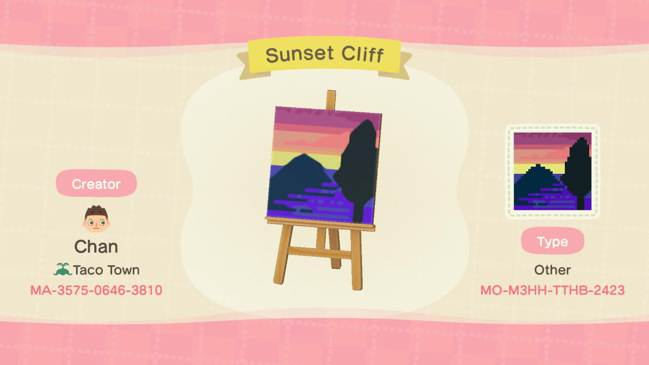Sunset Cliff - Animal Crossing: New Horizons Custom Design