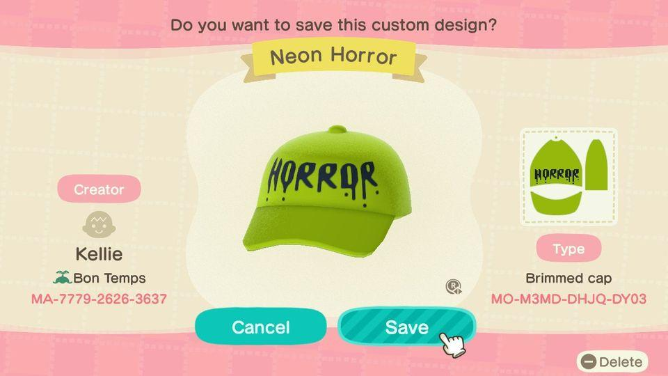 Neon Horror - Animal Crossing: New Horizons Custom Design