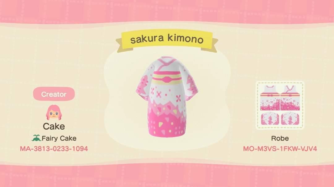 sakura kimono - Animal Crossing: New Horizons Custom Design