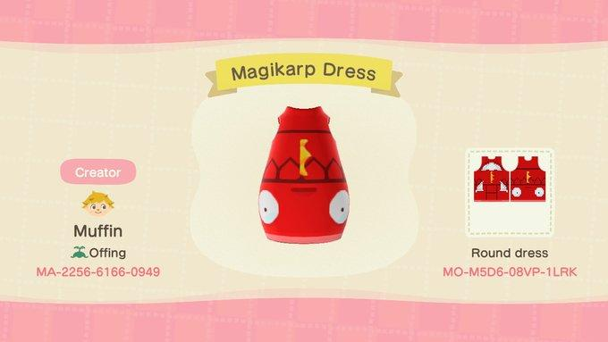 Magikarp Dress - Animal Crossing: New Horizons Custom Design