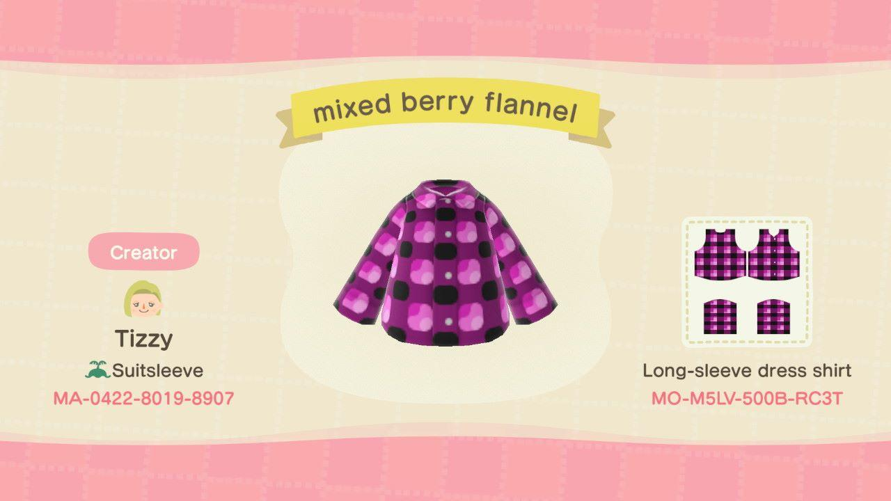 mixed berry flannel - Animal Crossing: New Horizons Custom Design