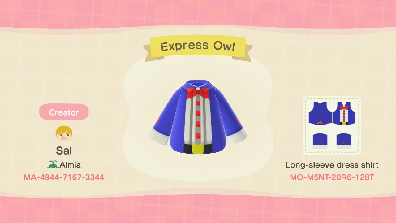 Express Owl - Animal Crossing: New Horizons Custom Design