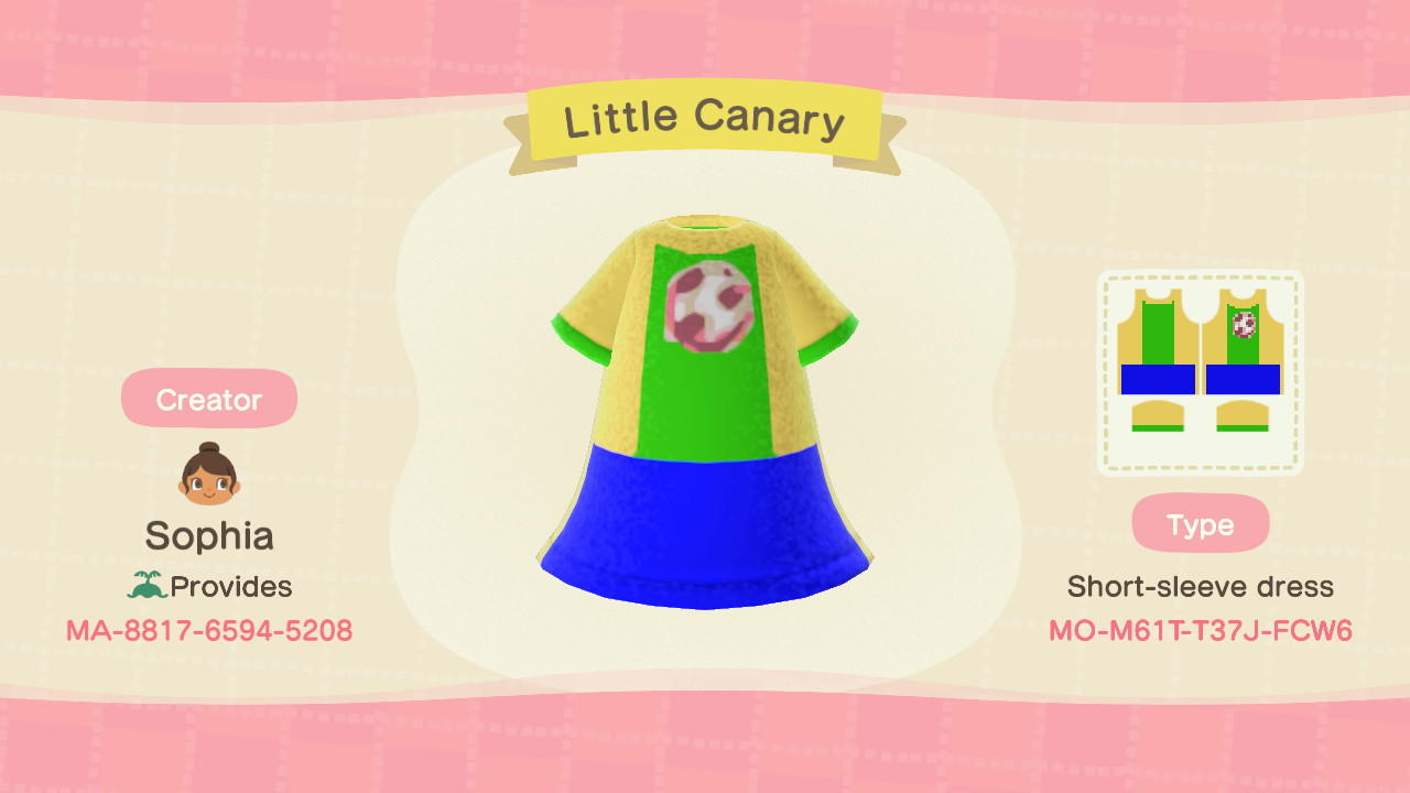 Little Canary - Animal Crossing: New Horizons Custom Design