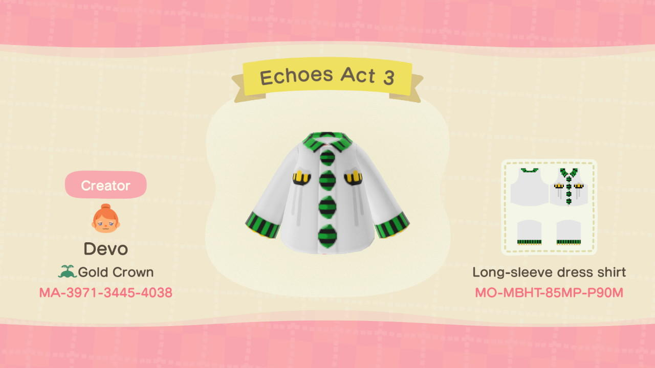 Echoes Act 3 - Animal Crossing: New Horizons Custom Design