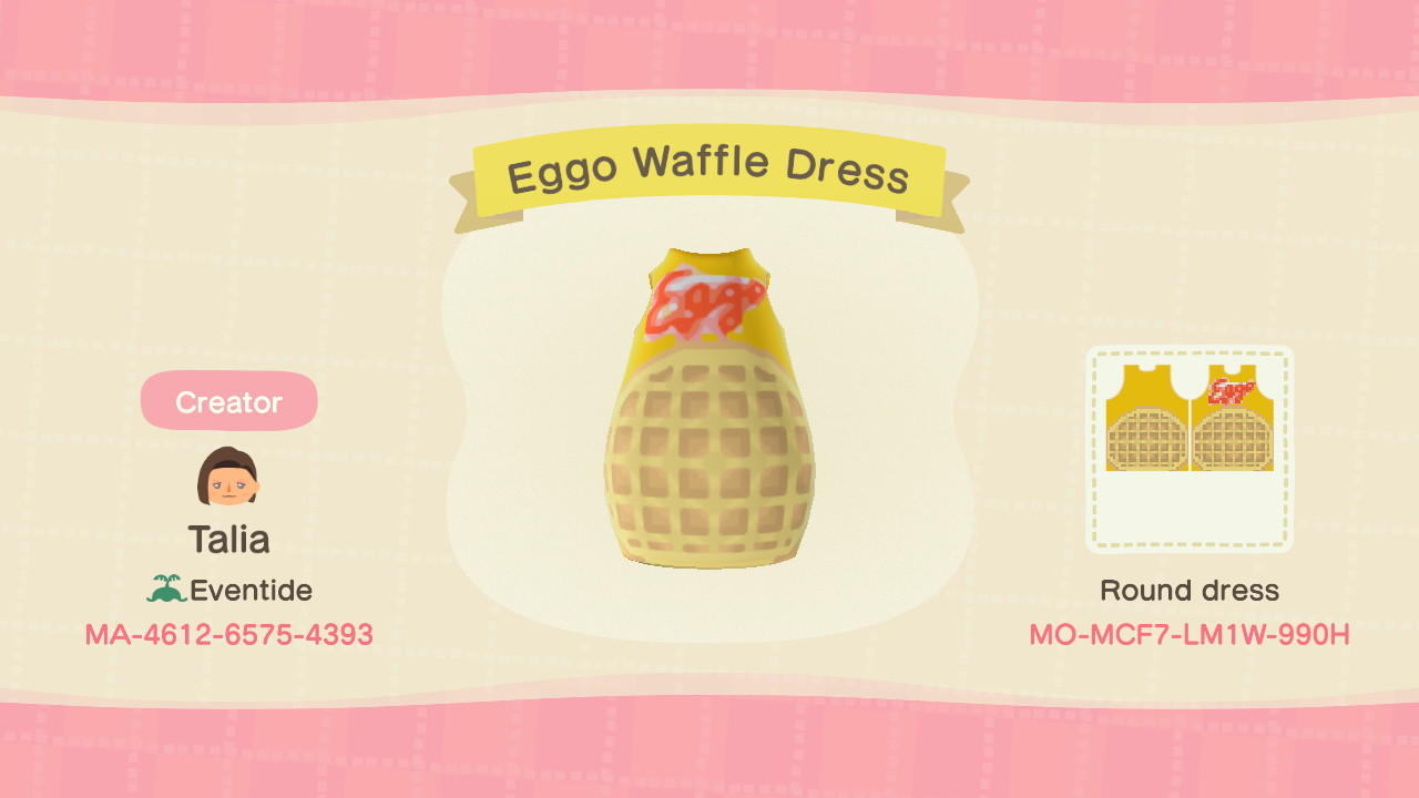 Eggo Waffle Dress - Animal Crossing: New Horizons Custom Design