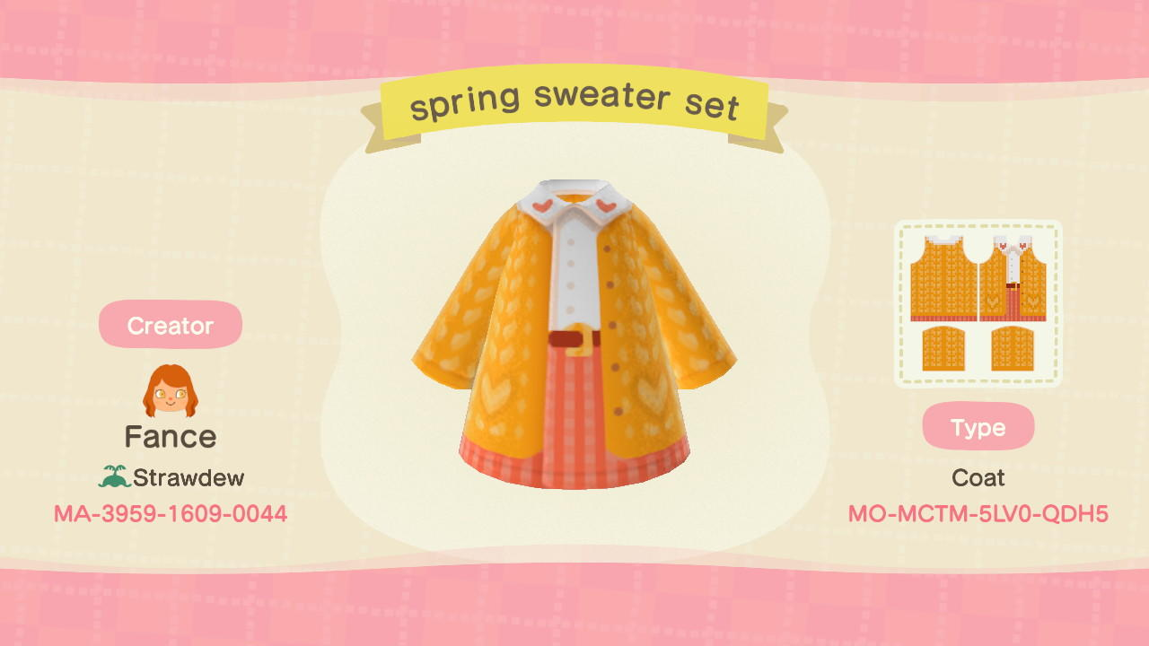 Spring Heart Cardi - Animal Crossing: New Horizons Custom Design