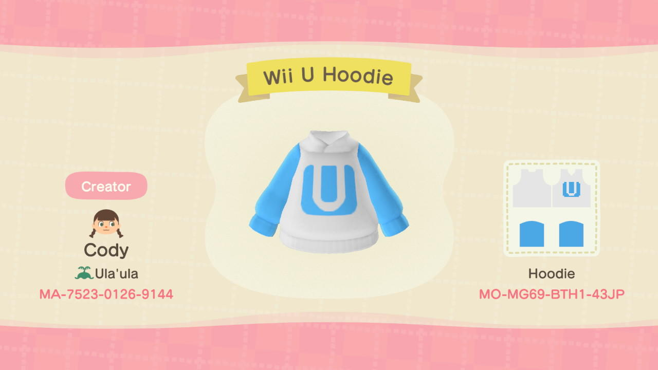 Wii U Hoodie - Animal Crossing: New Horizons Custom Design