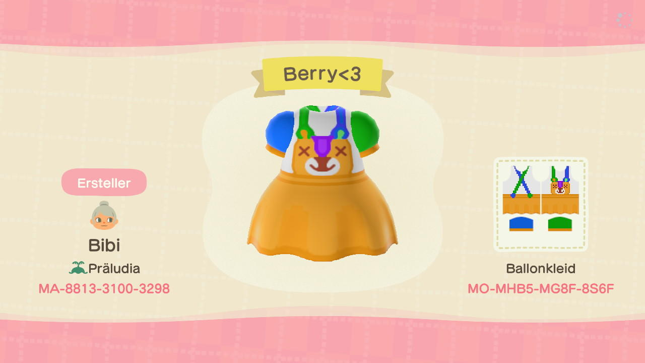 Berry - Animal Crossing: New Horizons Custom Design