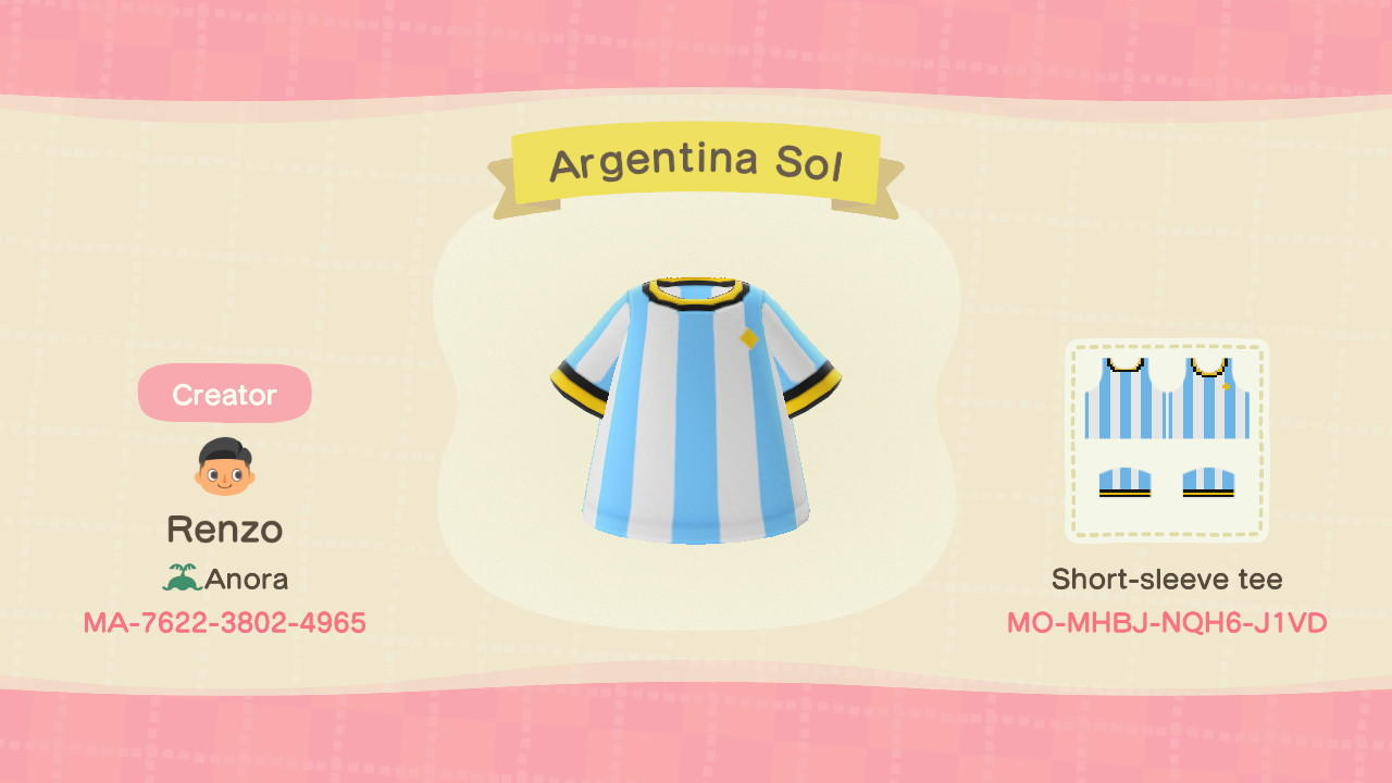 Argentina Sol - Animal Crossing: New Horizons Custom Design
