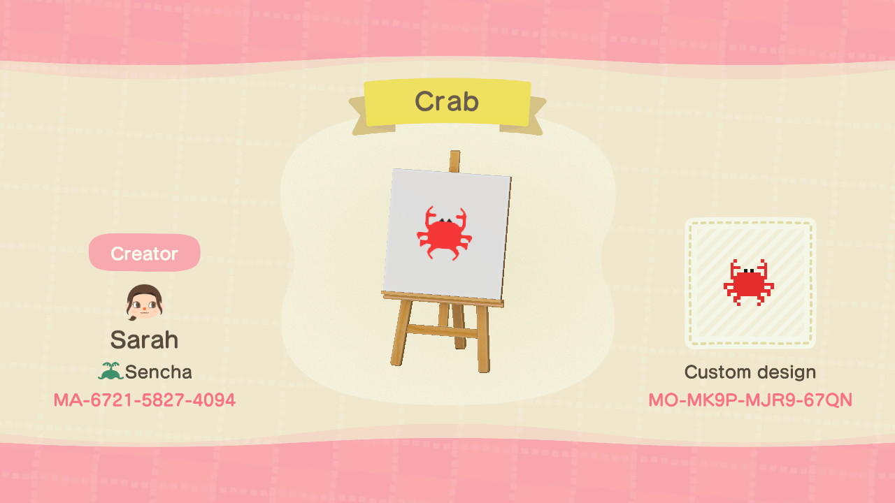 Crab - Animal Crossing: New Horizons Custom Design