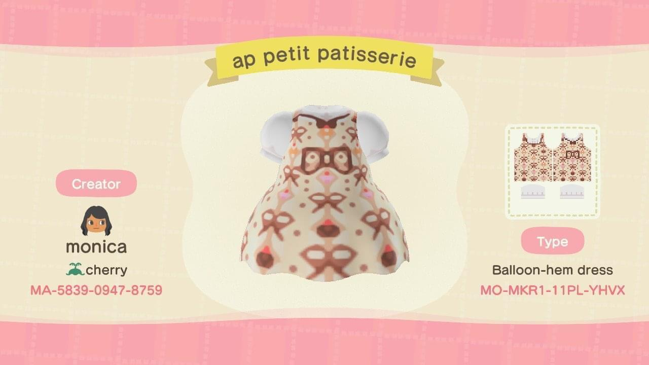 AP Petit Patisserie  - Animal Crossing: New Horizons Custom Design