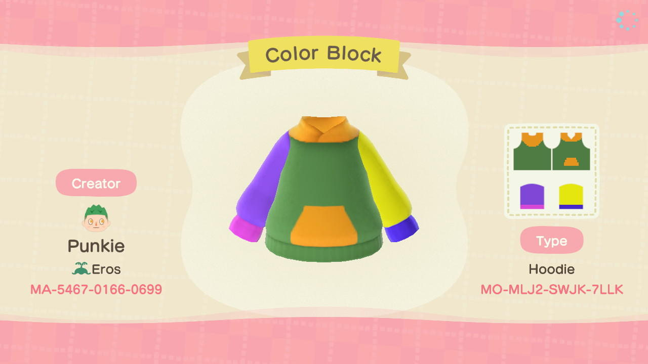 Color Block - Animal Crossing: New Horizons Custom Design