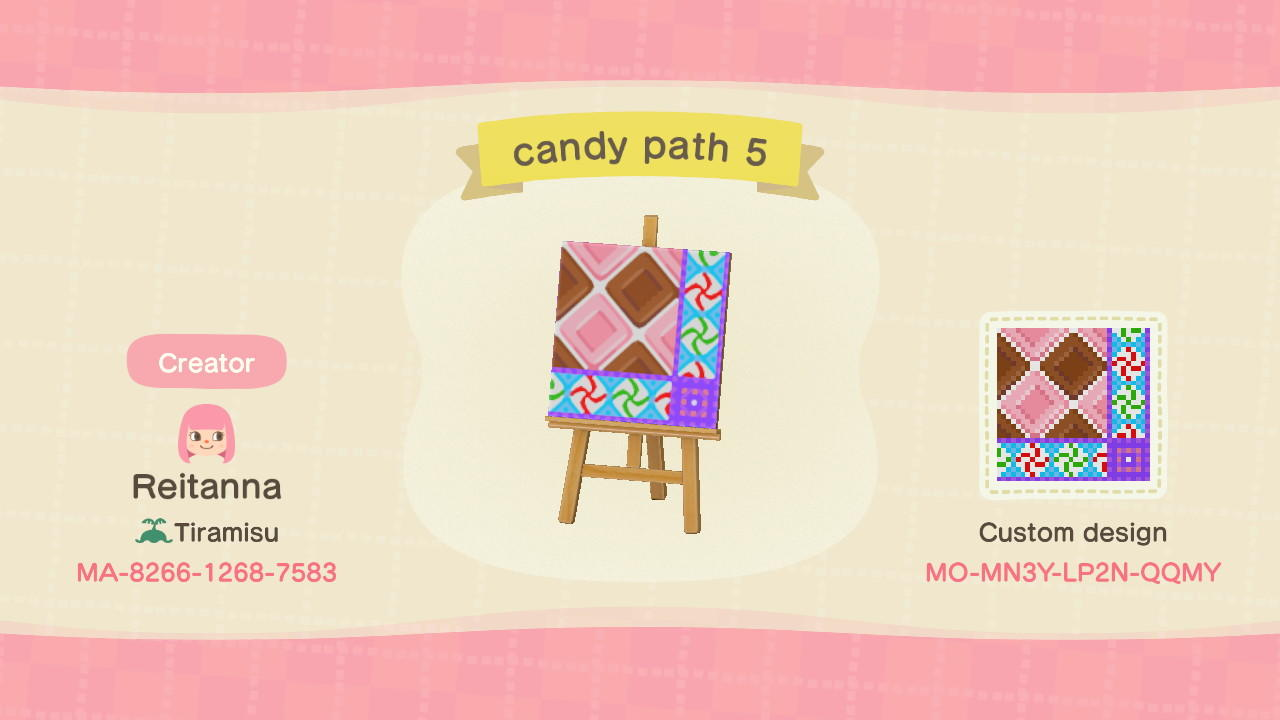 candy path 5 - Animal Crossing: New Horizons Custom Design