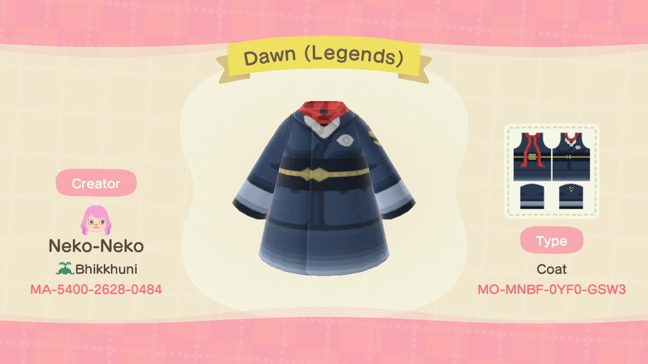 Dawn (Legends) - Animal Crossing: New Horizons Custom Design