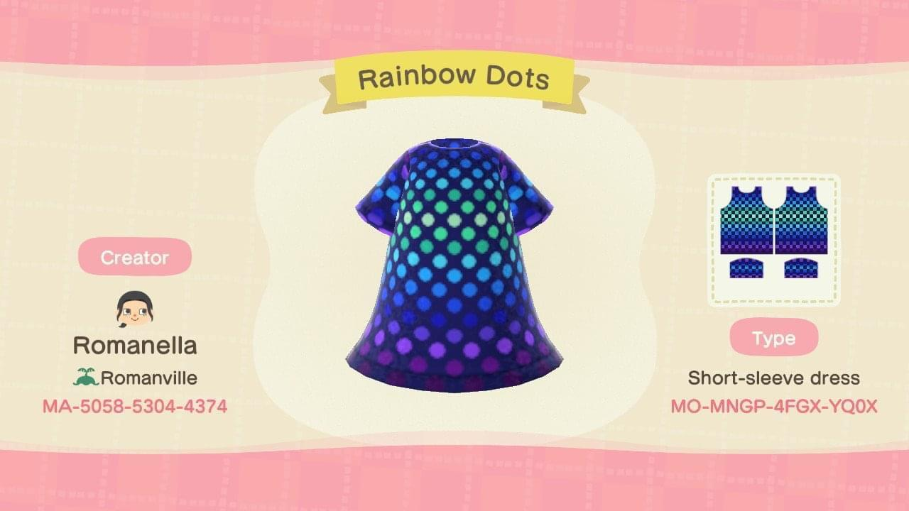 Rainbow Dots - Animal Crossing: New Horizons Custom Design