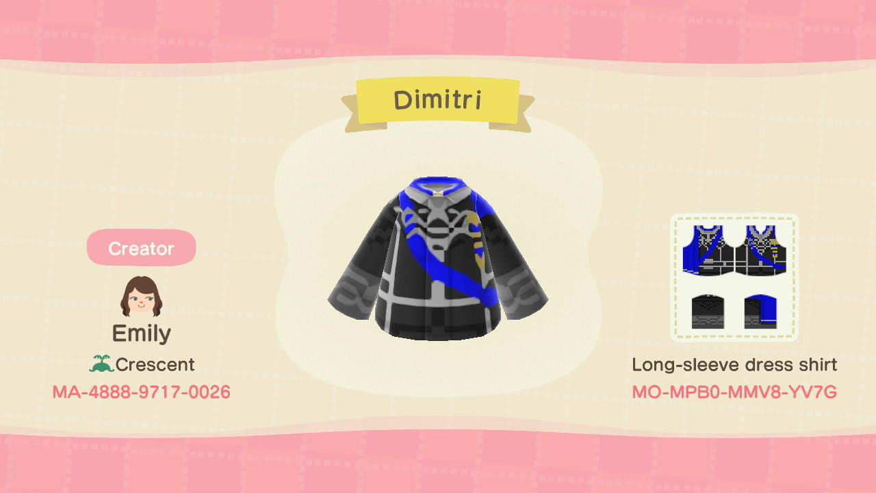 Dimitri - Animal Crossing: New Horizons Custom Design