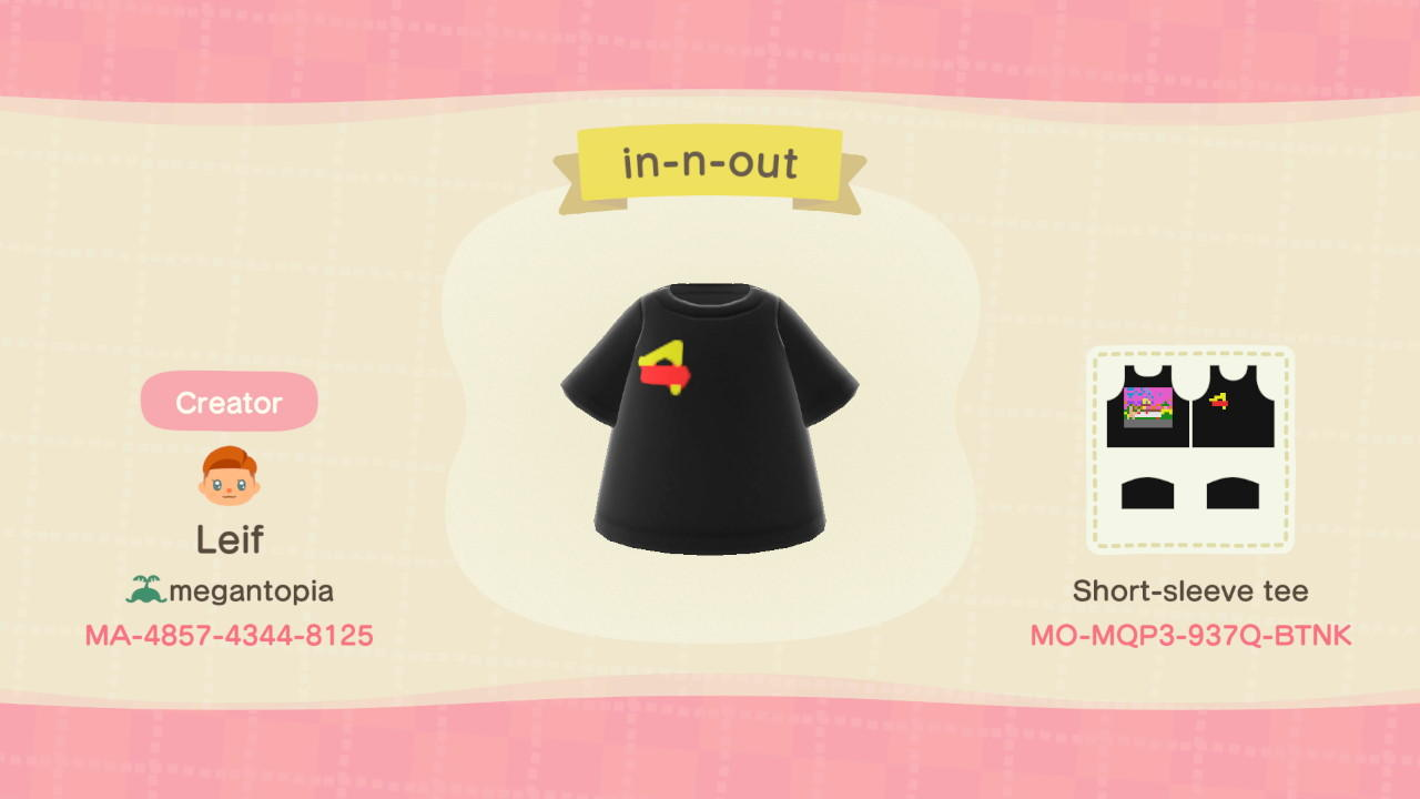 In-N-Out - Animal Crossing: New Horizons Custom Design