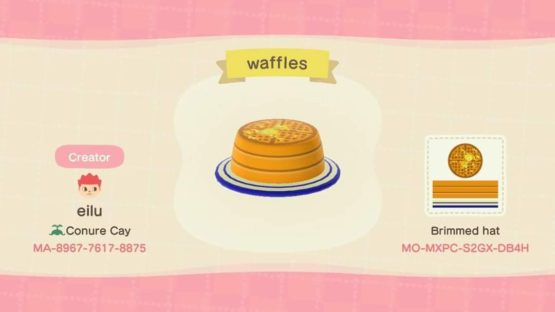 Waffle Hat - Animal Crossing: New Horizons Custom Design