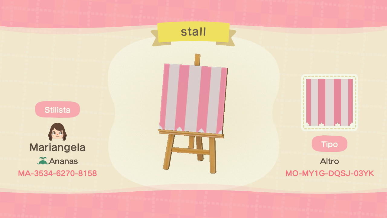 pink stall - Animal Crossing: New Horizons Custom Design
