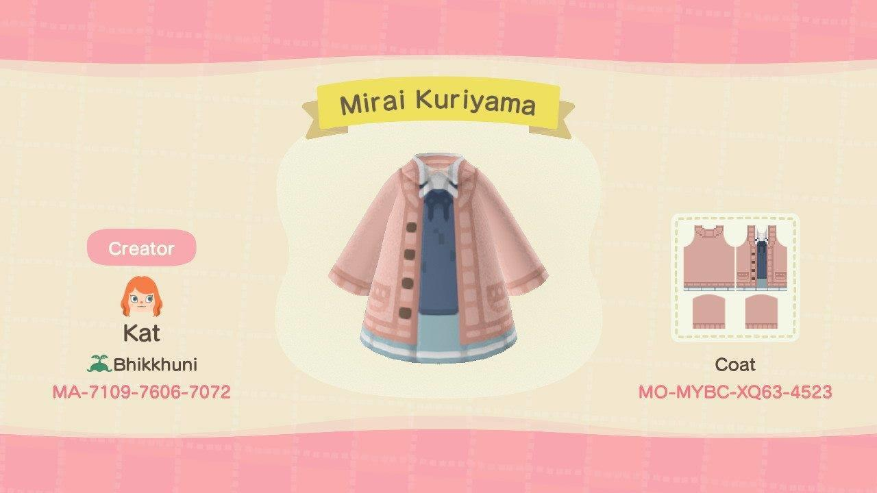 Mirai Kuriyama - Animal Crossing: New Horizons Custom Design