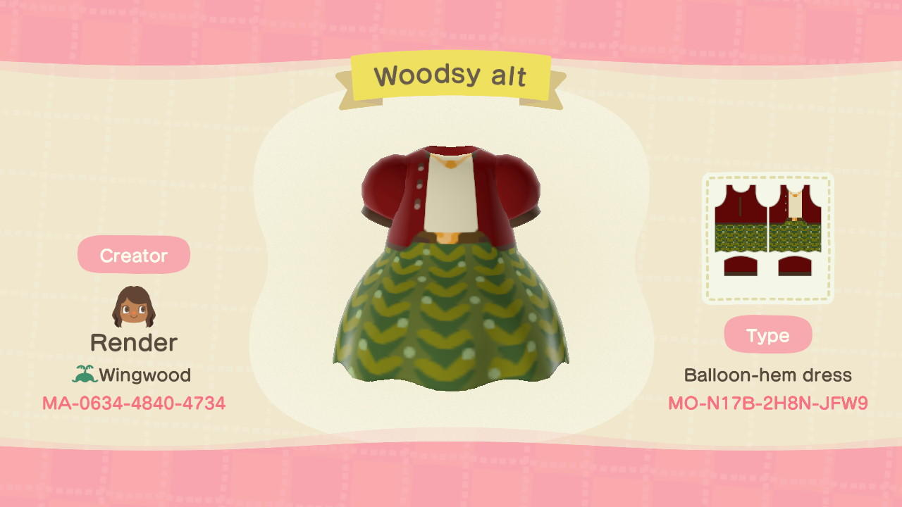 Woodsy alt - Animal Crossing: New Horizons Custom Design