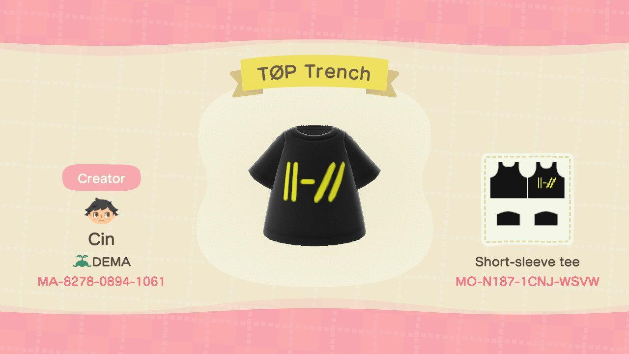 TOP Trench - Animal Crossing: New Horizons Custom Design