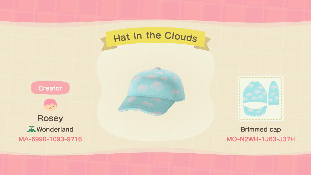 Hat in the Clouds - Animal Crossing: New Horizons Custom Design
