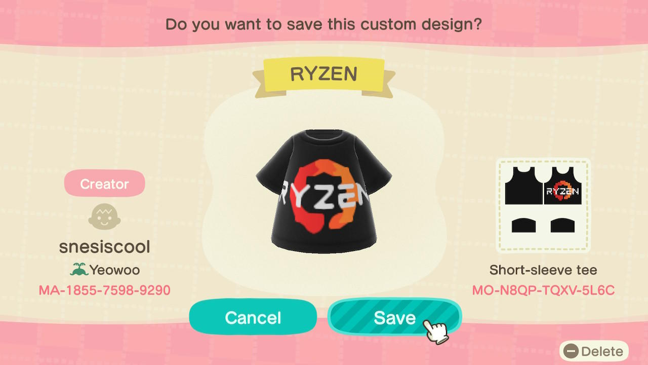 Ryzen Logo - Animal Crossing: New Horizons Custom Design