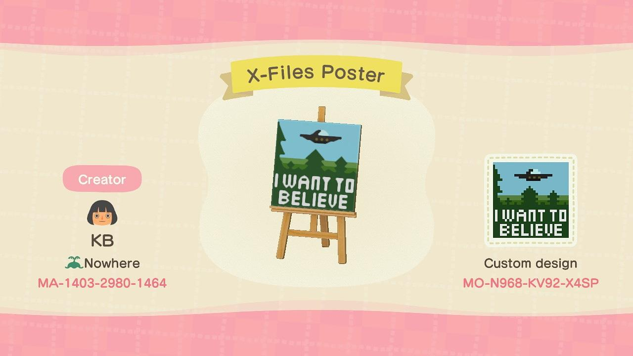 X-Files Poster  - Animal Crossing: New Horizons Custom Design