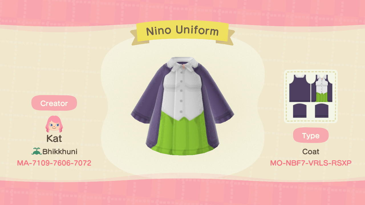 Nino Nakano - Animal Crossing: New Horizons Custom Design