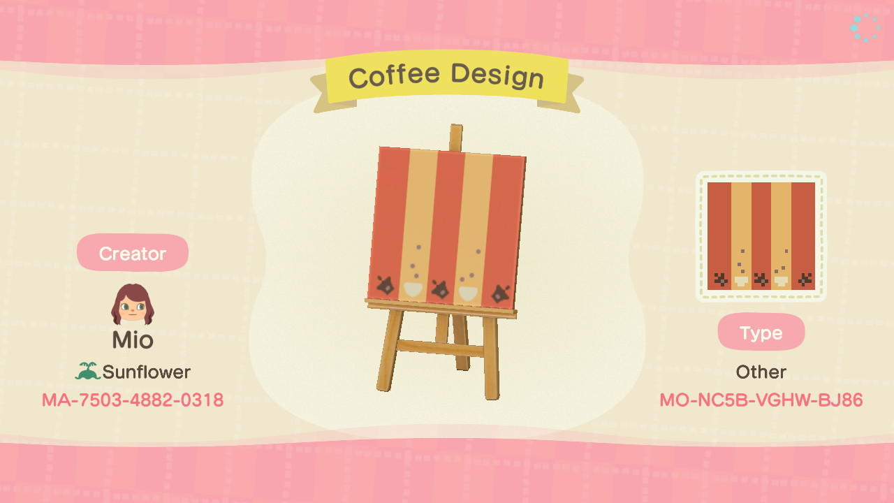 Coffee Design Stall - Animal Crossing: New Horizons Custom Design