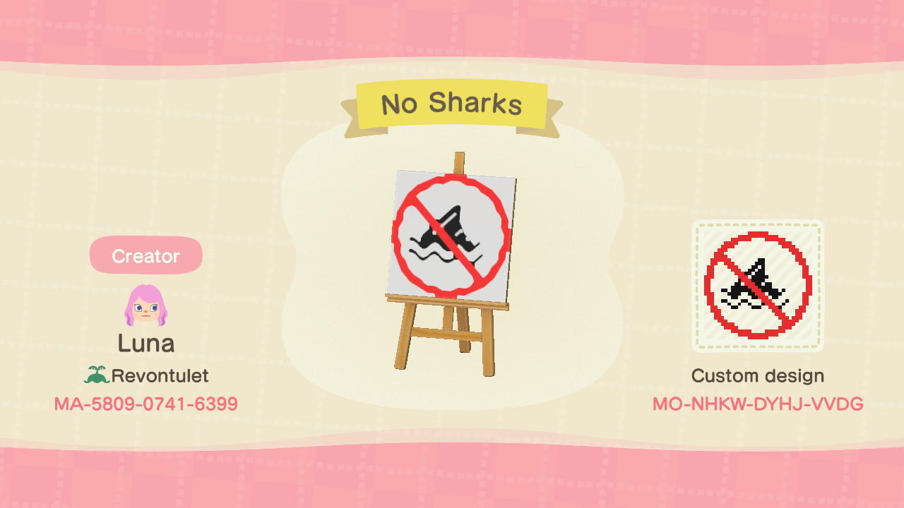 No Sharks - Animal Crossing: New Horizons Custom Design