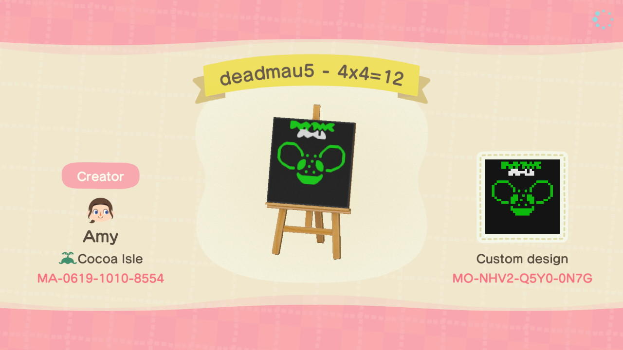 deadmau5 - 4x4=12 - Animal Crossing: New Horizons Custom Design