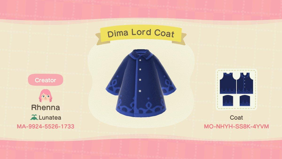 Dima Lord Coat - Animal Crossing: New Horizons Custom Design