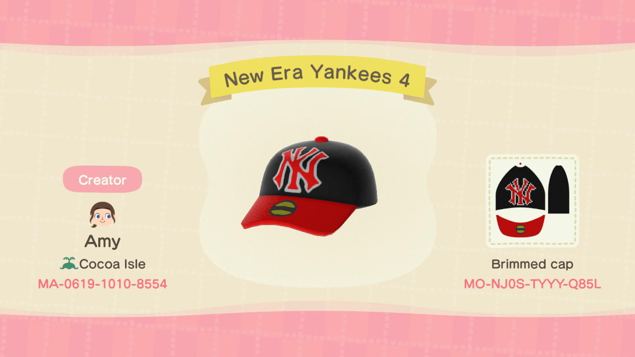 New Era Yankees 4 - Animal Crossing: New Horizons Custom Design