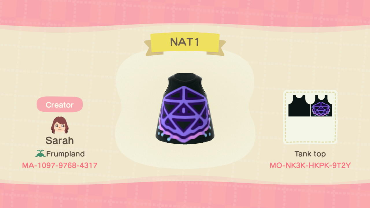 NAT 1 Dice - Animal Crossing: New Horizons Custom Design