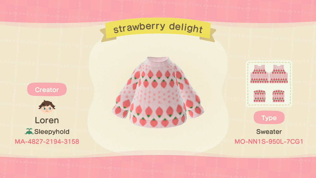 strawberry delight  - Animal Crossing: New Horizons Custom Design