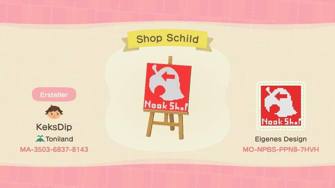 Nook-Shop Left - Animal Crossing: New Horizons Custom Design