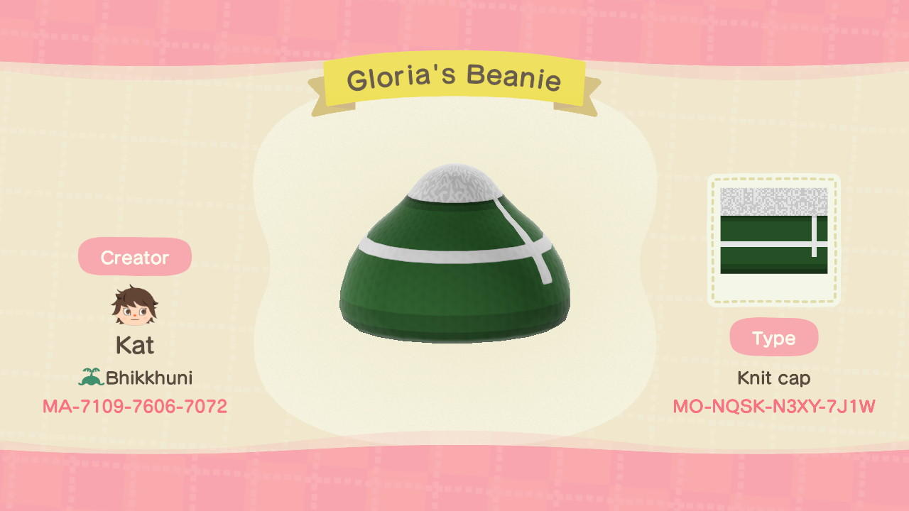 Gloria's beanie - Animal Crossing: New Horizons Custom Design