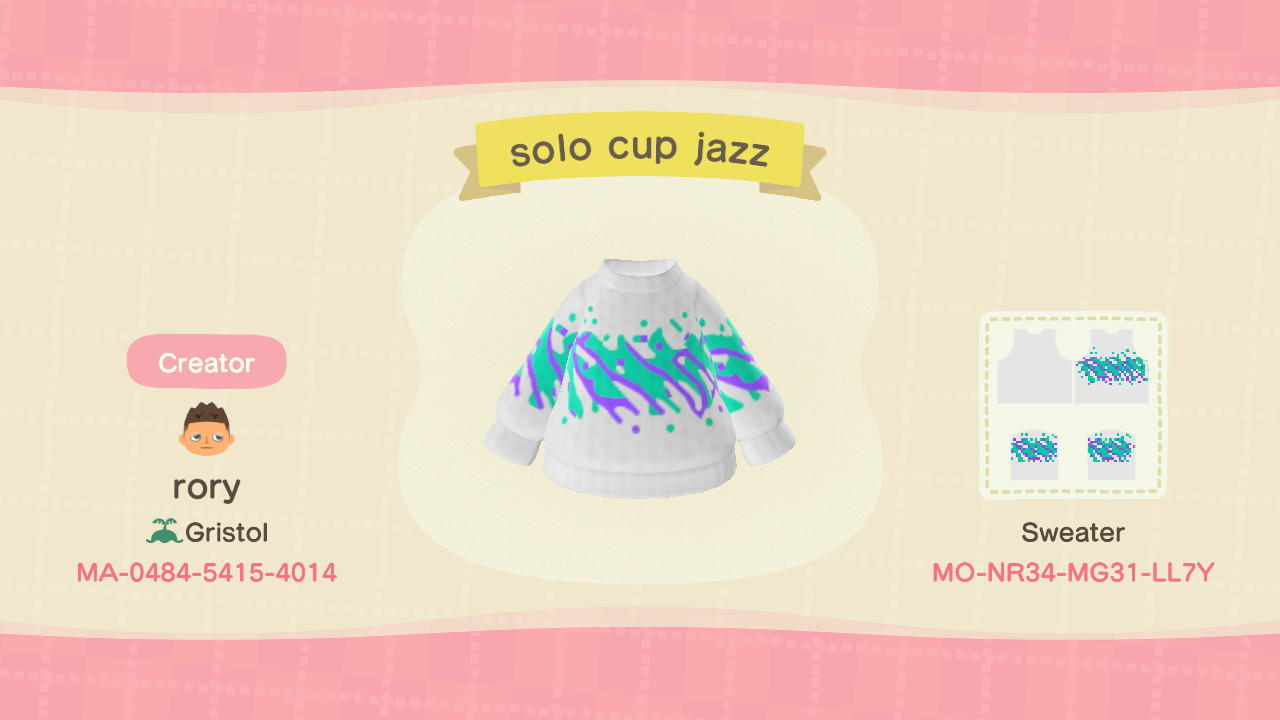 Solo cup Jazz design - Animal Crossing: New Horizons Custom Design